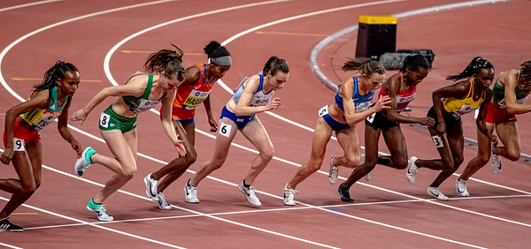 The start of the Women's 1500 metres final during day nine of 17th IAAF World Athletics Championships Doha 2019 at Khalifa International Stadium on October 05, 2019 in Doha, Qatar. Photo by Tom Kirkwood/SportDXB