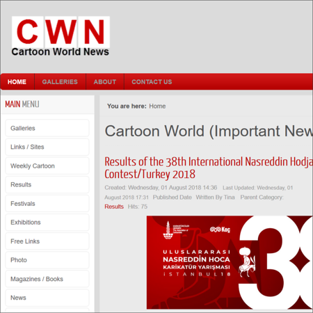 14. Cartoon World News, Iran (9,382,152)