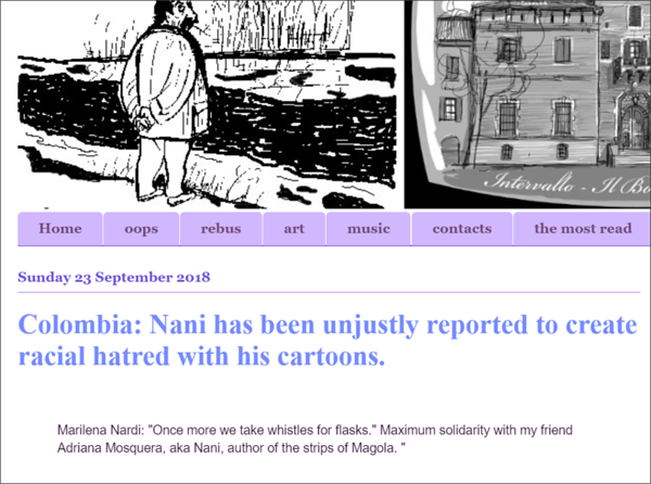 2.10.2018: Nani has been unjustly reported to create racial hatred with his cartoons