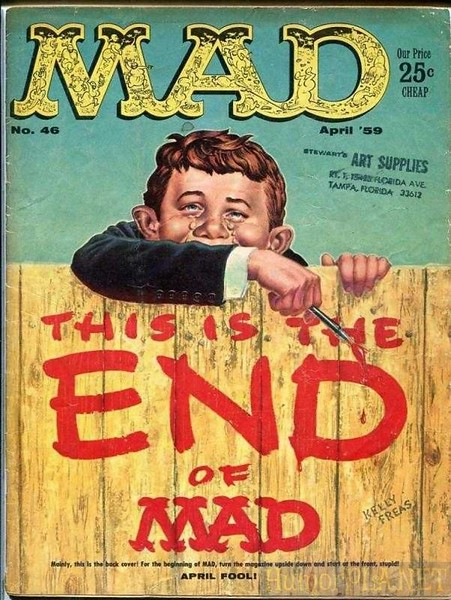 The End of an Era: MAD Magazine Will Publish Its Last Issue With Original Content This Fall