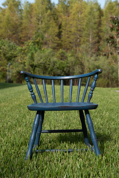 Distressed Antique Blue Chair for Kids