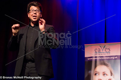 Michael McIntyre, Eaves' Stand up for Women, photographer Bronac
