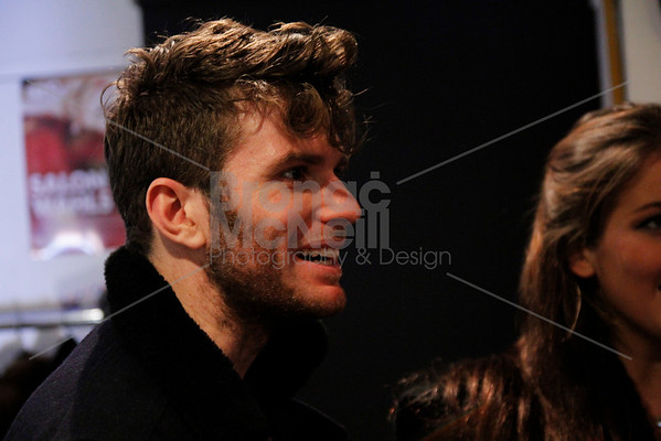 Joel Dommett, the green room, Eaves Stand up for women, Soho Theatre, London. 5Nov2012 ©BronacMcNeill