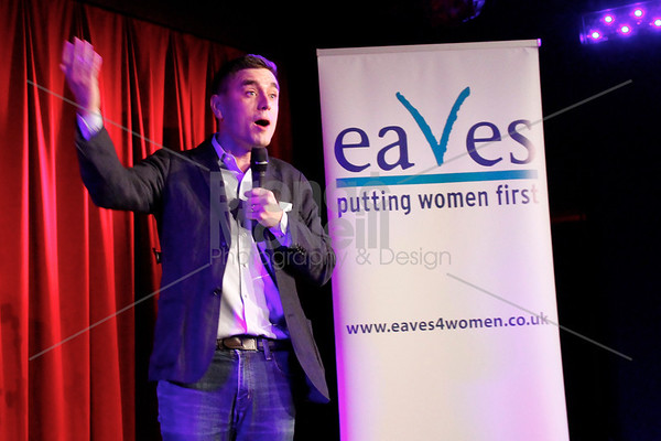 James Mullinger, Eaves Stand up for women, Soho Theatre, London. 5Nov2012 ©BronacMcNeill