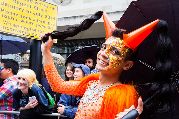 7. Orange Cone Princess, Pride in London, 28June 2014
