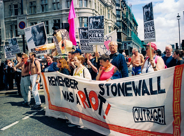 1. Stonewall was a RIOT Pride, London, June1999