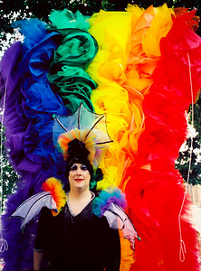 6. The Rainbow Queen, Pride, Parliament square, London, June 1999.