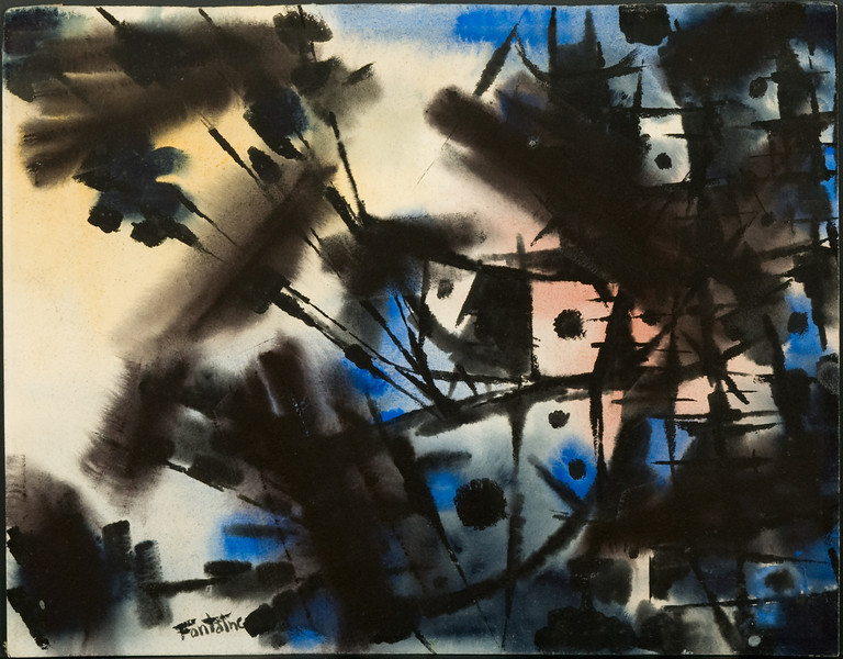 "1953?, Germany, ""Salvo"" (17 7/8  x 21 1/2) watercolor (no.7)30f"