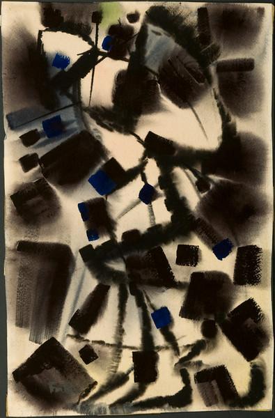 """""""Ascent"""", c. 1963. Watercolor, 20 x 13. ( no. 11)  27f"""