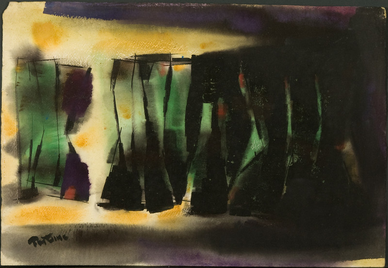 Untitled, c. 1969-72.Watercolor, 15.5 x 22.5.  83f