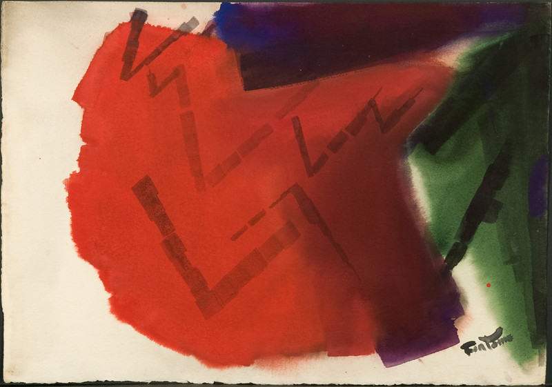 Untitled, c. 1968?, (15 1/2 x 22 in.)watercolor (no.1) 71f, Fig 125