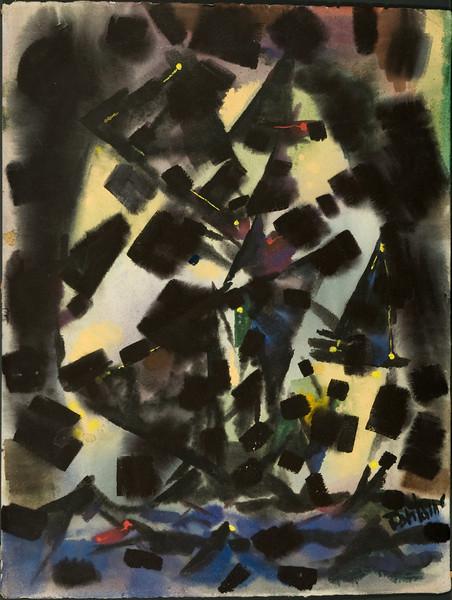 The Windmill,c.1953. Watercolor,  16.88 x 20.4 (no.21) (verify) 31f