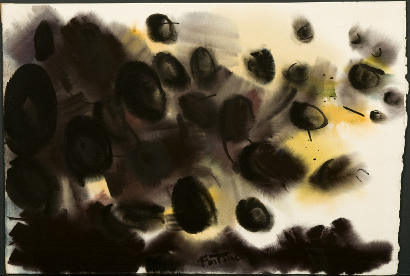 Fig 117  Untitled c 1960. Watercolor,15.25  x 22.5  in. Chicago, IL, Private Collection. 88f