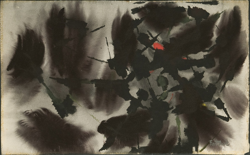 Fig 135 (1960? 1962?) Germany Untitled (no.36) (13 x 21) watercolor 4f