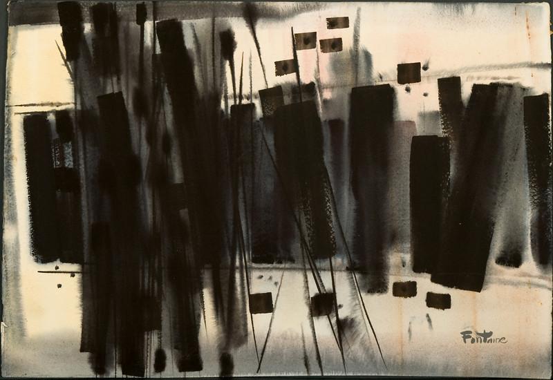 Untitledc.1968,  Watercolor, 22.4 x 13.5(no.12) 37f