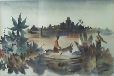 watercolor Robert Johnson Collection