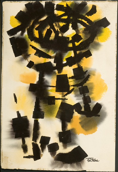 Fig 116 Untitled, c. 1962. Watercolor, 22.5 x 15.5 in. Austin, TX, Collection Chidester. 86f