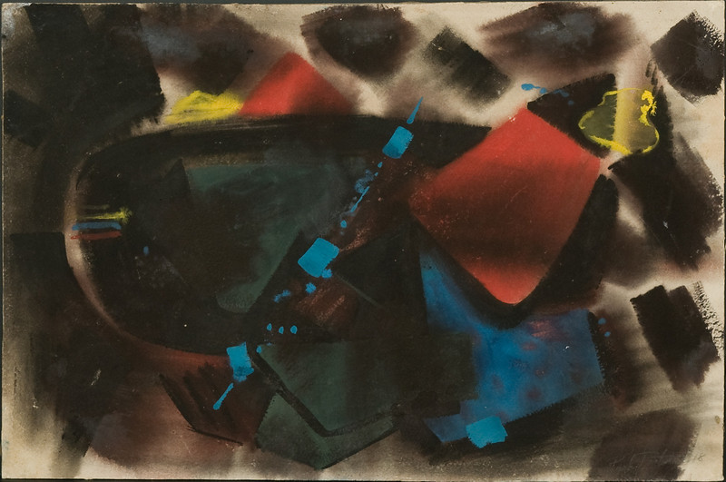 Untitled, 1948.Watercolor, attached to a board, 13.25 x 20 in. ( signed and dated  in pencil lower right corner) 7f