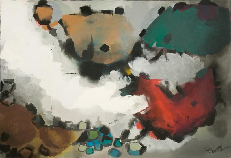 "1995, Austin, TX, untitled-variation of ""Augustus"", (1953) (58"" x 39"")"