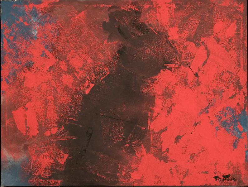 "1994, Austin, TX ""Huichol"" (32 x 23) study for ""Hichole"", 1994, (53"" x 36"")"