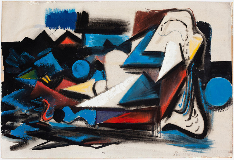Fig 225. Untitled, 1947. Watercolor and guage, 14 x 21 in. Private Collection, Boston, MA.