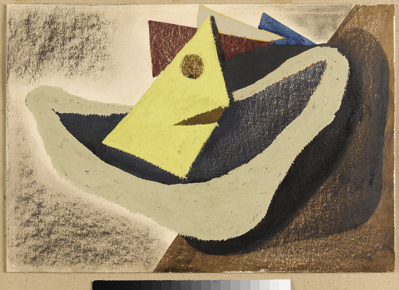 (tif file)Fig 243 Untitled Composition, 1948. Oil crayon and gouache on paper, 15.7 x 20 in. Sammlung Domnick, Nürtingen, Germany