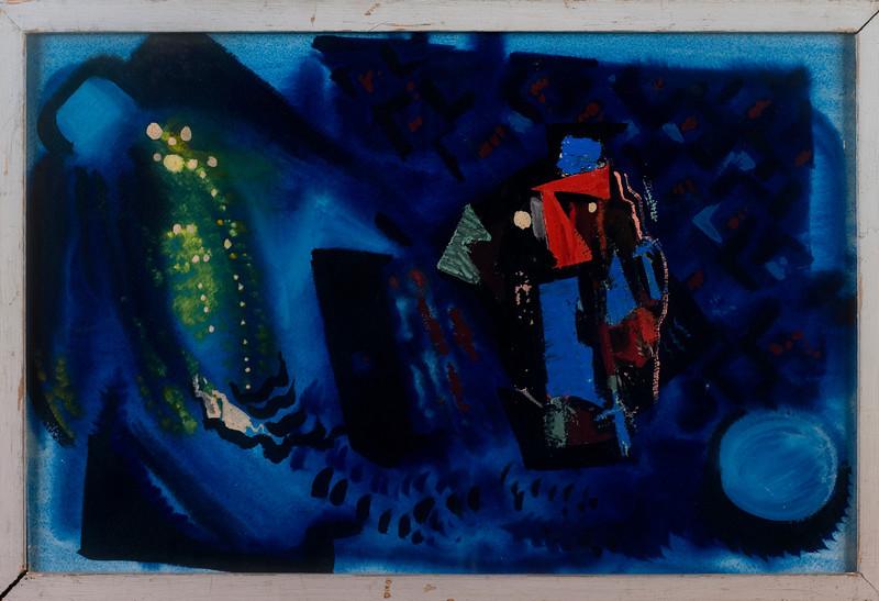 Fig 258. Abstrakte Composition, c 1948, Oil on Board, 13 x 19.7 in. Wuppertal, Germany,Kunst- und Museumsverein im Von der Heydt – Museum Wuppertal