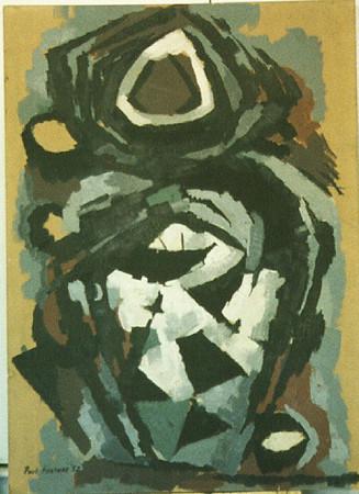"""The Nun"", oil on board, 73 x 102 cm, 1952"