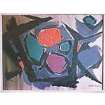 """""""Still life"""", oil on board, 1951 102 x 76 cm"""