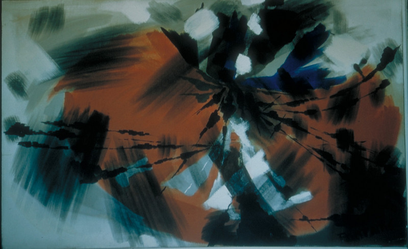 """""""Rote Form"""", acrylic on canvas, 1961"""