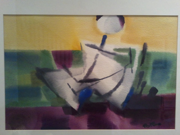 Untitled?, watercolor, Collection Shelley Sapone, D.C.