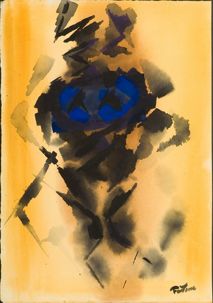 Fig. 158 Unititled, c. 1972  --(slide 202) watercolor 22x28  Private collection Frankfurt, Germany