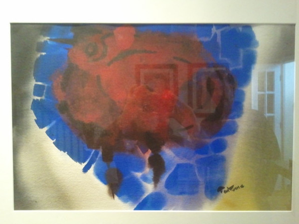 Untitled? , watercolor -Collection Shelley Sapone, D.C.