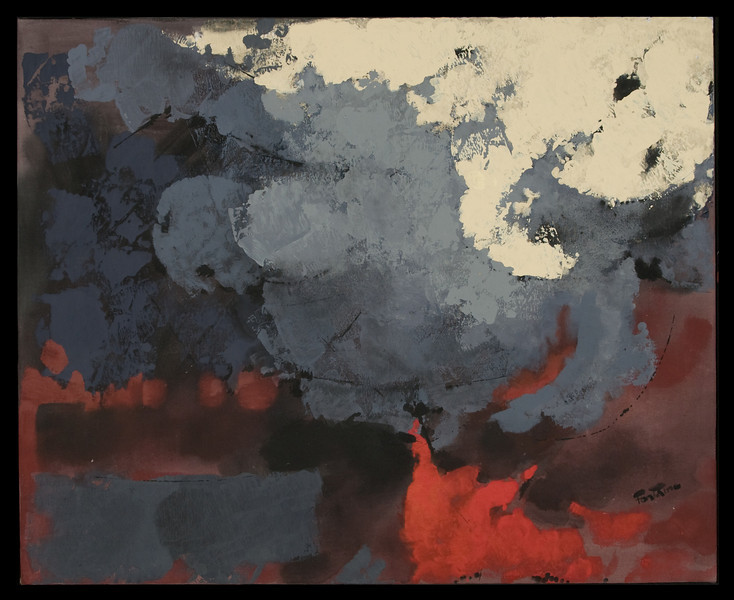 """1992, Mexico, """"Symphony in Gray"""" () variation of """"symphony in Grays II"""" (64"""" x 48"""")"""
