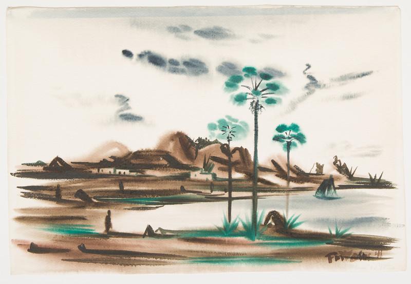 "Fig 170 Virgin Island, 1941 ( 21"" x 14 1/4"") watercolor"