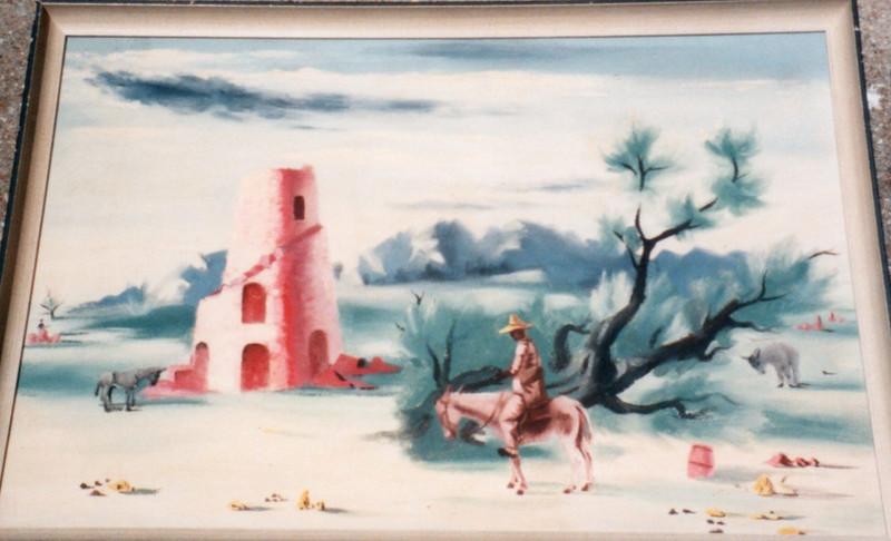 The Sugar Mill, Tortola, 1941. Oil on board, 17.5 x 25.5 in. Estate of Carol Frohman Barboo