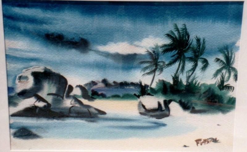 Untited-The Baths, Tortola, 1941. Watercolor, 13.5 x 20 in. Estate of Carol Frohman Barboo