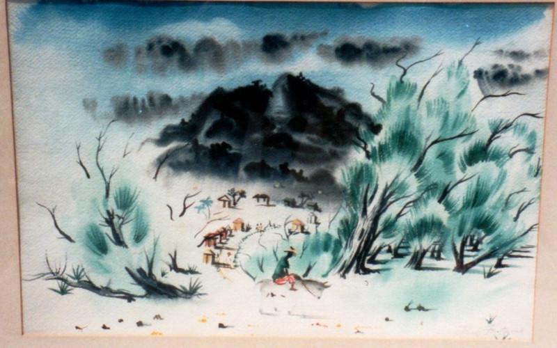 Eastend Tortola, 1941. Watercolor, 13.5 x 20.25 in.Estate of Carol Frohman Barboo.