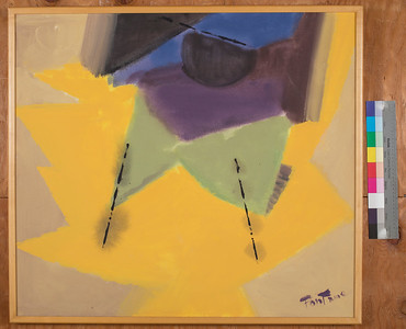 Untitled, c. 1987, Acrylic on canvas, 31 x 35 in.