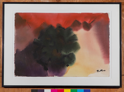 Untitled, c.1986, Watercolor, 15 x 22 1/2 in.