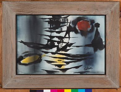 Orientale, c. 1965, Watercolor on paper? or Oil on Board?, 13 1/2 x 20 in.