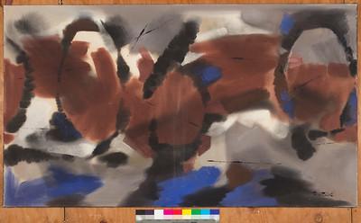 Tri-Kopf-III, 1961, Acrylic on canvas, 34 x 60 in.
