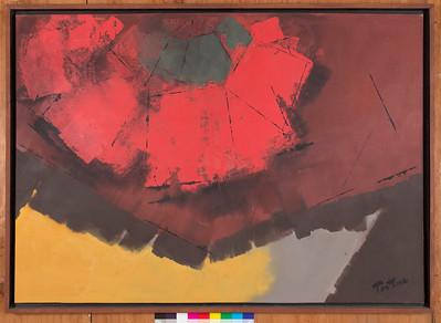 Grablegung, 1986, Acrylic on canvas, 40 x 57 in.