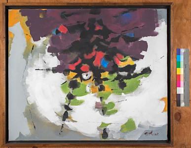 Fruit Tree II, 1985, Acrylic on canvas, 31 x 38 in.