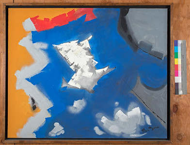 Direction, c. 1995, Acrylic on canvas, 33.5 x 41 in
