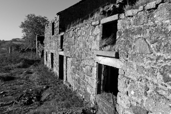 An abandoned house in the hillside, County Antrim