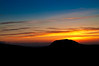Slemish, Co Antrim, in silhouette during sunset