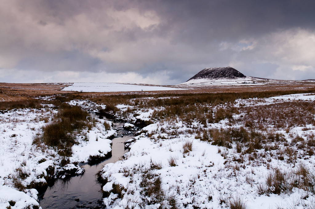 Slemish overlooking a winter brook