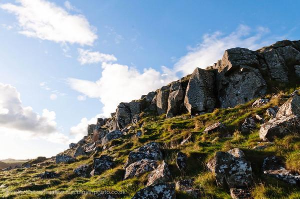 Stoney Hillside at Mussenden Temple, overlooking Castlerock.