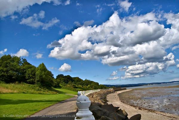 Lochshore Park, looking along the toepath towards Jordanstown